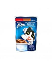 Влажный корм Purina Felix Аппетитные кусочки Двойная вкуснятина говядина и птица