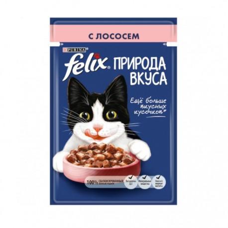 Влажный корм Purina Felix Природа вкуса для взрослых кошек с лососем