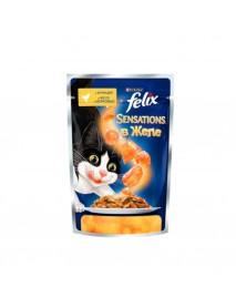 Влажный корм Purina Felix Sensations курица и морковь
