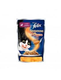 Влажный корм Purina Felix Sensations в Удивительном соусе утка с морковью